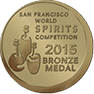 San Fransisco World Spirits Competition Bronze Medal