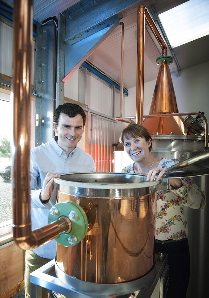 Our precious botanicals are carefully picked and prepared before Elizabeth, our traditional copper pot still, works her magic; the vapours pass over the basket where our botanicals will impart their wonderful flavours creating the delicious taste that is Rock Rose gin. Martin will cast his watchful eye over the whole process, discarding the heads and tails through nose. We carefully hand fill and wax seal every bottle, before it is numbered and signed at the distillery. Great care is taken throughout the whole process to ensure only the very best will leave our wee distillery in Dunnet!