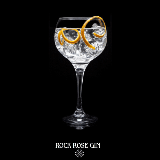 Rock Rose Gin perfect serve