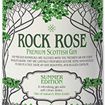 Rock Rose Gin Summer Edition Label
