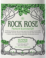 Rock Rose Gin Summer Edition Label