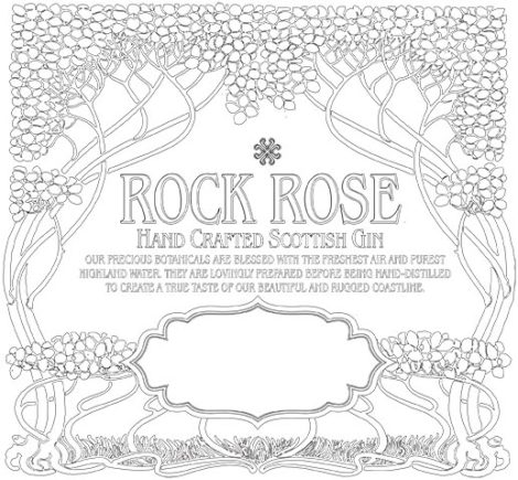 Blank Rock Rose Gin Label