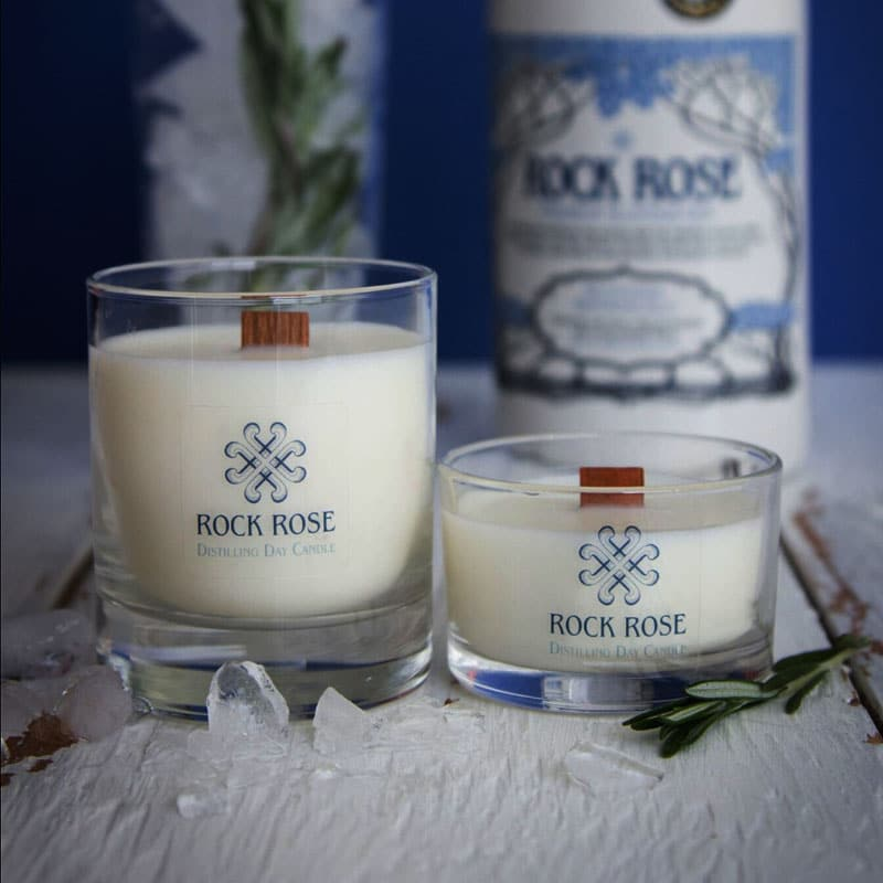 Rock Rose GIn Distilling Day Candles
