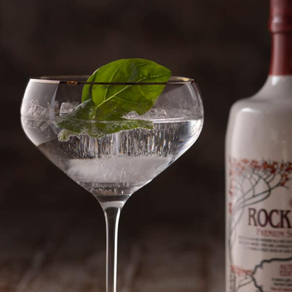 Rock Rose Autumn Edition with Basil Garnish