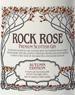 Rock Rose Gin Autumn Edition Label