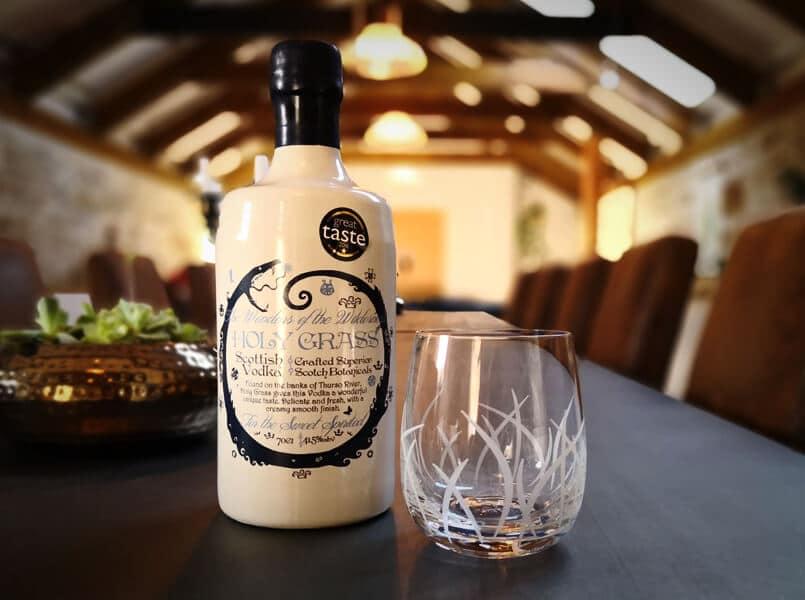 Holy Grass Vodka Glass