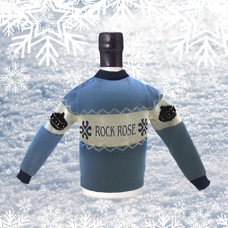 Rock Rose Gin Bottle Christmas Jumper