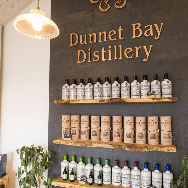 Dunnet Bay Distillery Shop Display