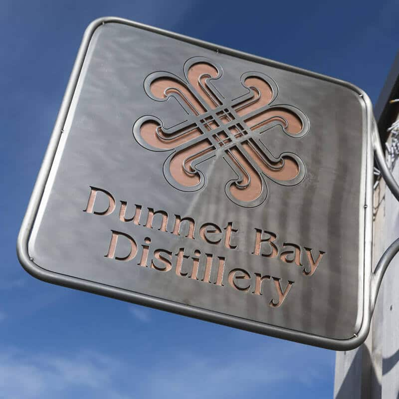 Dunnet Bay Distillery Shop Sign