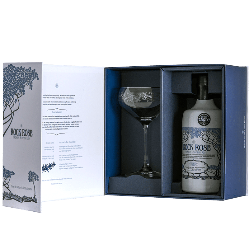 Rock Rose Gin Gift Set Open