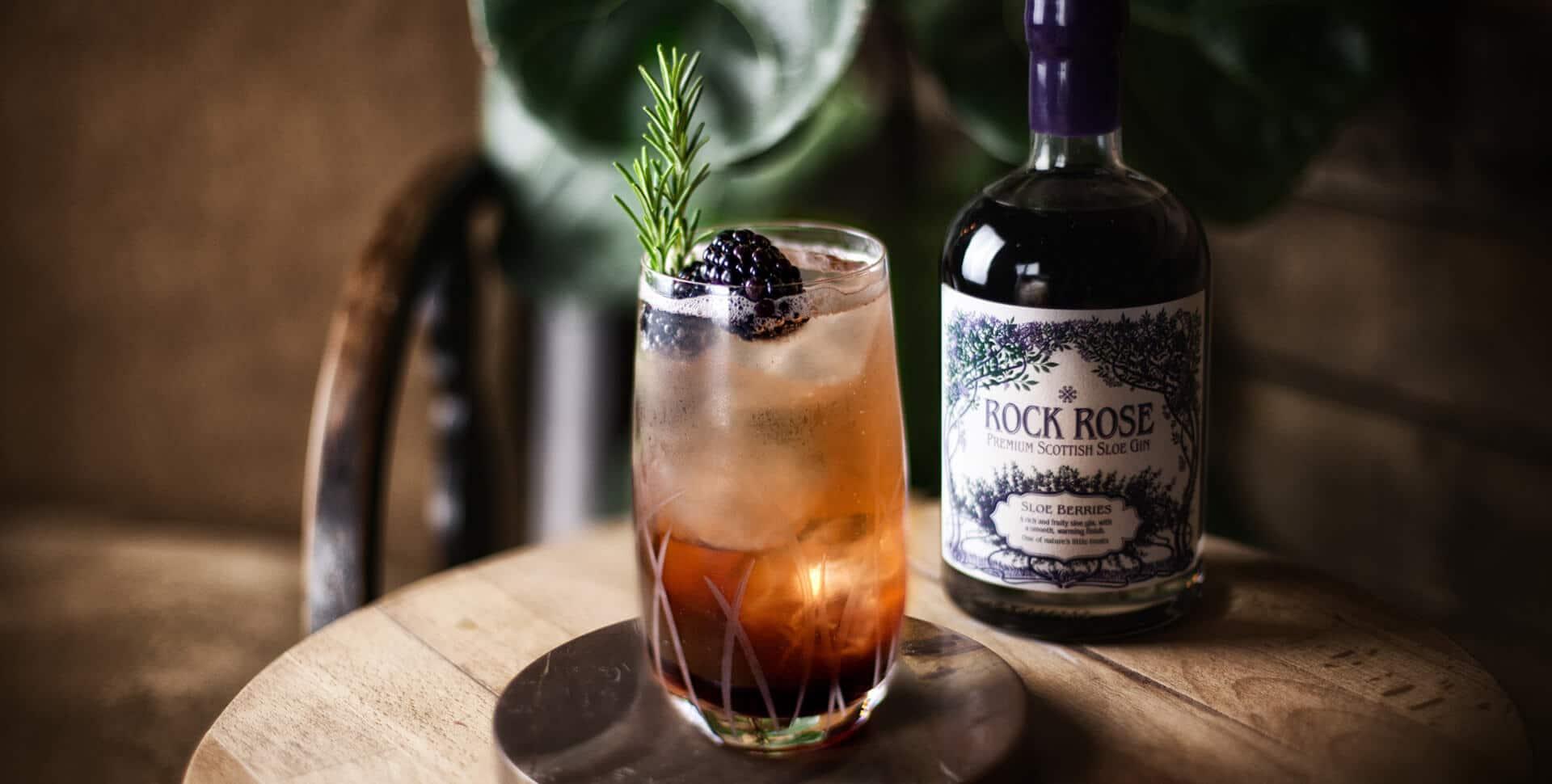 Rock Rose Sloe Gin Cocktail