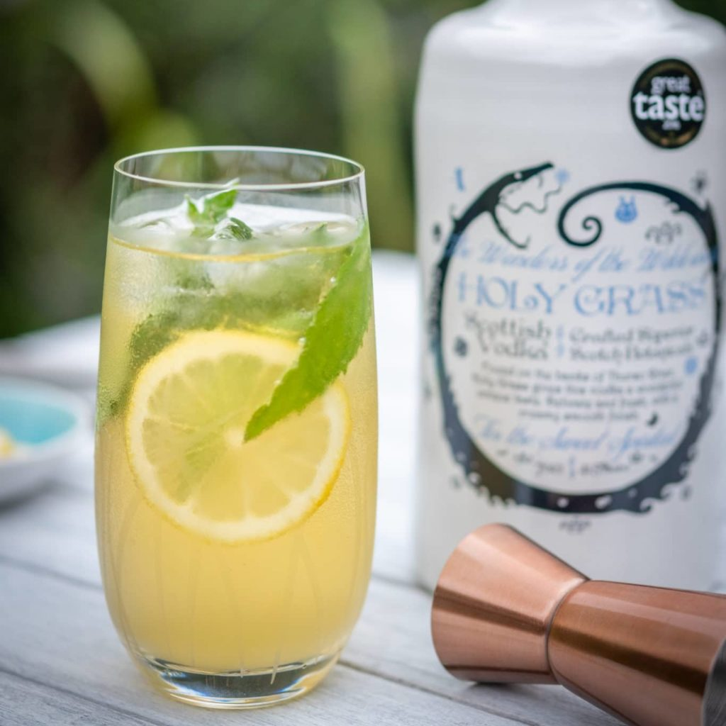 Minty Apple Cooler Cocktail